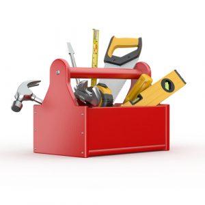 cartoon handyman toolkit