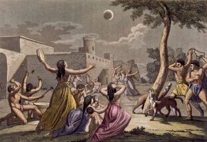 Depiction of eclipse in Incan times