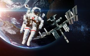 Spaceman with ISS